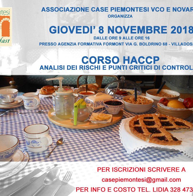 CORSO HACCP – Analisi dei rischi e punti critici di controllo