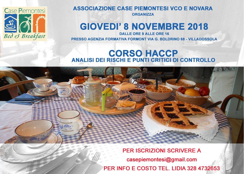 CORSO HACCP - Analisi dei rischi e punti critici di controllo
